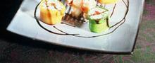 Les sushis de riz de Camargue aux légumes et tourteaux huile d'olive et vinaigre balsamique