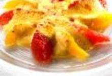 Gratin d'agrumes, sabayon au parfum de poivre et cannelle
