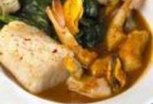 Cassolette bretonne au cabillaud, aux crevettes et aux coquillages