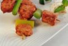 Brochette de poulet tandoori au yaourt et à la menthe