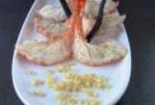 Crevettes rôties à la vanille au boulgour