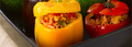 Légumes farcis à la viande, au riz et au Ketchup Amora