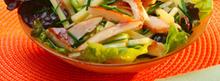 Salade de poulet rôti et emmental