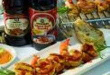 Brochettes de poulet et crevettes