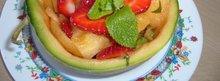 Salade melon - fraises