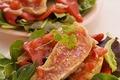 Salade Tiede De Rougets Aux Piquillos, Sauce Vierge