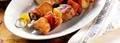 Brochettes de porc au chili