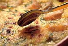 Emincé de volaille au gratin de curry