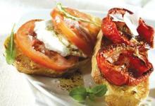 Bruschetta Tomates de France et mozzarella