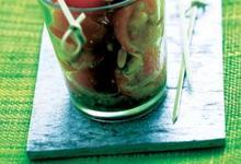 Salade de Tomates de France et pignons de pin au pistou