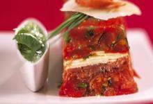 Terrine de Tomates de France aux copeaux de Parme et Parmesan