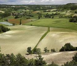 un paysage du Quercy Blanc