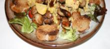 Compostelle de noix fraîches au foie gras