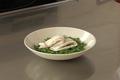 Filet de sole à l'estragon, pois gourmands et haricots verts