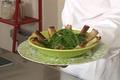 Aiguillettes de canard croustillantes, salade d'épinard citron confit