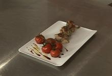 Saltimbocca de veau à la mozzarella, tomates cerise au miel