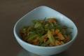 Poêlée de jeunes carottes et céleri branche