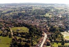vue aérienne de Ribérac