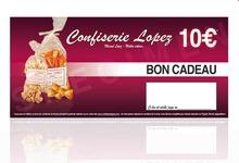 Bon gourmand 10 euros CONFISERIE LOPEZ