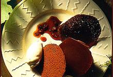 Tuiles au Chocolats Glace au Pain d'Epices, Réduit de Macvin