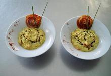 risotto au curry doux et queues d'écrevisses