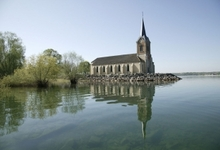 eglise de Champaubert sur le lac du Der