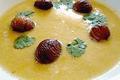 Bouillon de poule aux Châtaignes des Pyrénées et à l'œuf