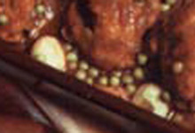 """""""Pitu de aldea"""" (Petit poulet de campagne) aux Petits Pois et Pommes de terre"""