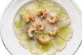 Pixin (lotte) aux crevettes roses
