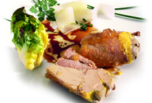 Caille fourrée au foie gras de canard