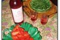 Salade de gariguettes au vinaigre de framboises