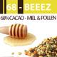 Tablette 68-BEEEZ (68% cacao - miel et pollen)
