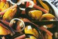 Moules A La Creme, Aux Champignons Et Au Jambon