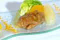 Salade d'Huîtres Marennes Oléron panées aux agrumes et sa vinaigrette orange/cardamone