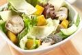 Salade de courges aux champignons et Gruyère AOC