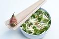 Salade de panais aux poires, lard et Gruyère AOC
