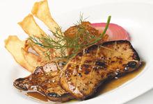 Foie gras de la vallée de l'Hudson grillé au Cointreau