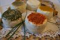 Fromages aromatisé avec différentes épices