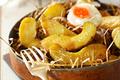 Ratte du Touquet au foin et oeufs coque