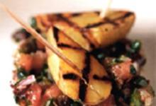 Pompadour grillées aux pistaches et à la tomate