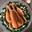 Chapon Fermier d'Auvergne Label Rouge simplement rôti, florentine d'épinards aux raisins et aux pignons de pins, émulsion de riz basmati au lait de coco