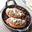Suprêmes de Pintade Fermière d'Auvergne Label Rouge rôtis en croûte de Fourme d'Ambert, lentilles vertes du Puy confites au vin rouge de Saint-Pourçain