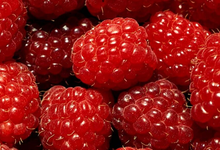 Confiture  framboises  pêches