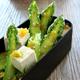 Asperges vertes et tofu en vinaigrette de thé et Fleur de Sel Cérébos