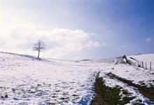 la Montagne sous la neige