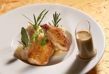 poulet du Bourbonnais à la moutarde (ferme Saint-Sébastien à Charroux)