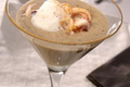 Cappuccino de shiitaké au calamar