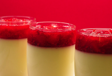 Verrine panacotta aux fruits rouges
