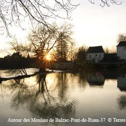 Pont-de-Ruan, autour des moulins de Balzac