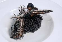 Riz noir (encre de seiche)
